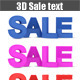 Sale Text 3D - GraphicRiver Item for Sale