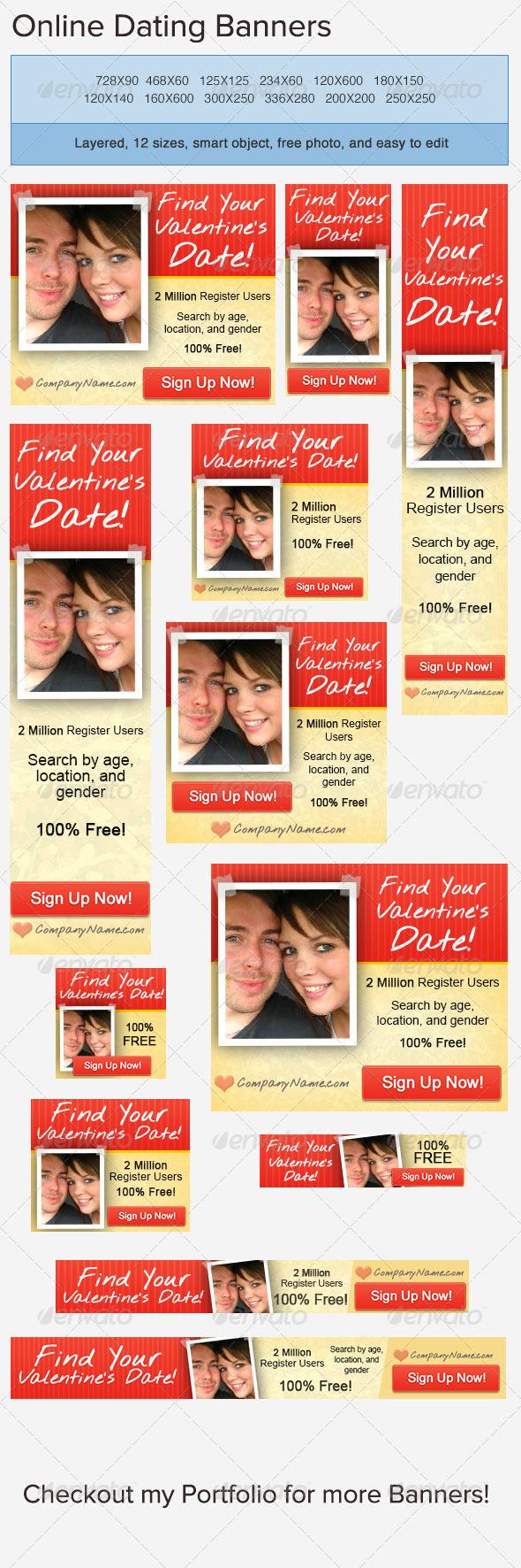 GraphicRiver Valentine s Day Banner Ad 3776995