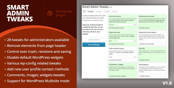 CodeCanyon Smart Admin Tweaks 3777002