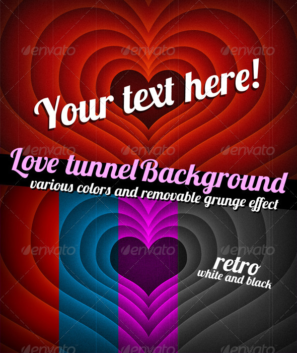 GraphicRiver Tunnel of Love Background 3715587