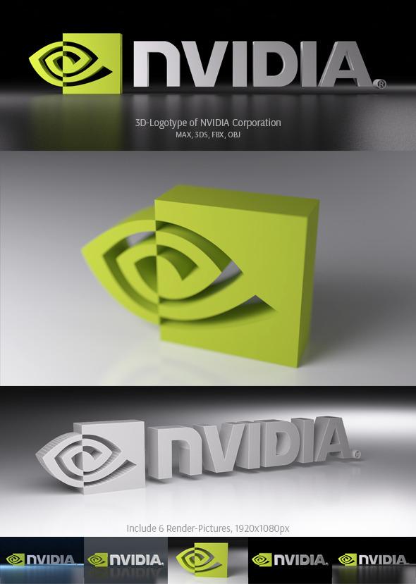 3DOcean NVIDIA Corporation 3D Logotype 3742906