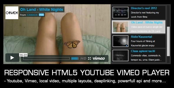 Responsive Video Gallery HTML5 Youtube Vimeo - CodeCanyon Item for Sale