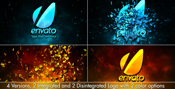 Cinematic Fire Shatter Logo
