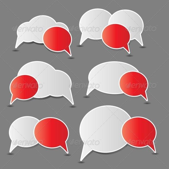 GraphicRiver Speech Bubbles Vector 3777224