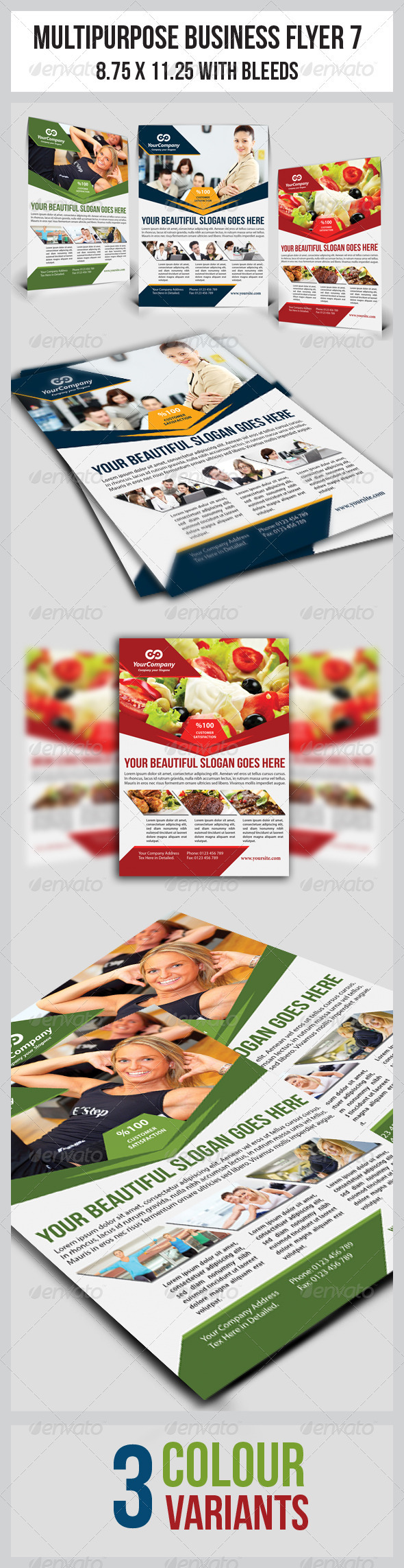 GraphicRiver Multipurpose Business Flyer 7 3515340