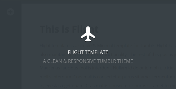 Flight - A Clean & Responsive Template - Blog Tumblr