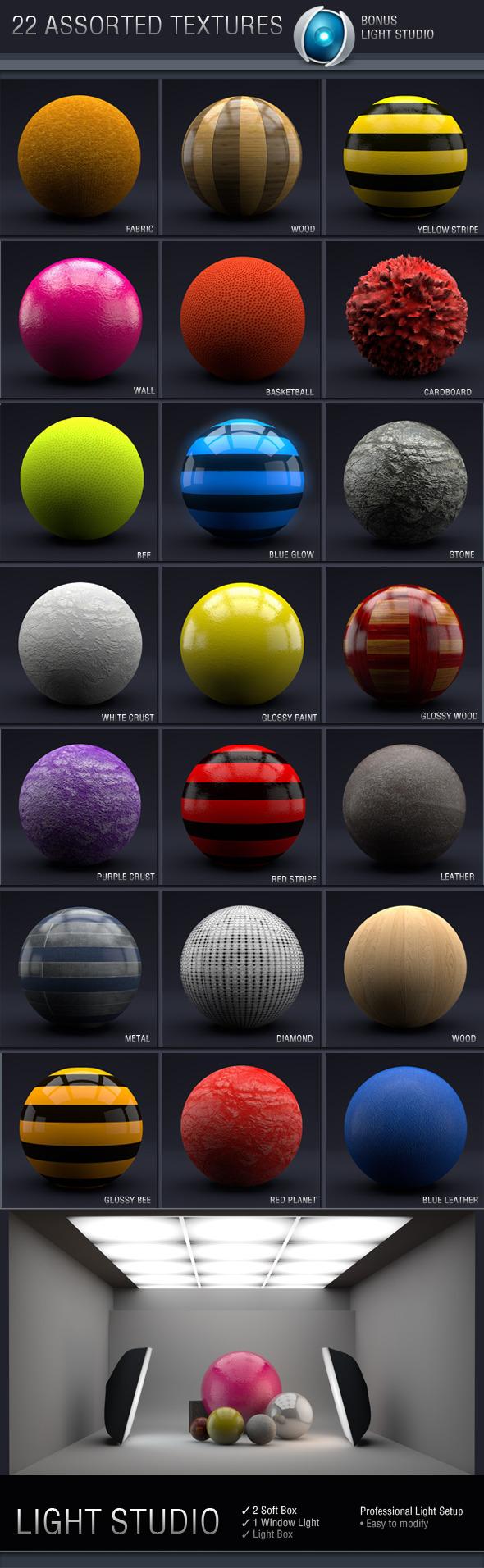 3DOcean C4D Assorted Textures 3777278