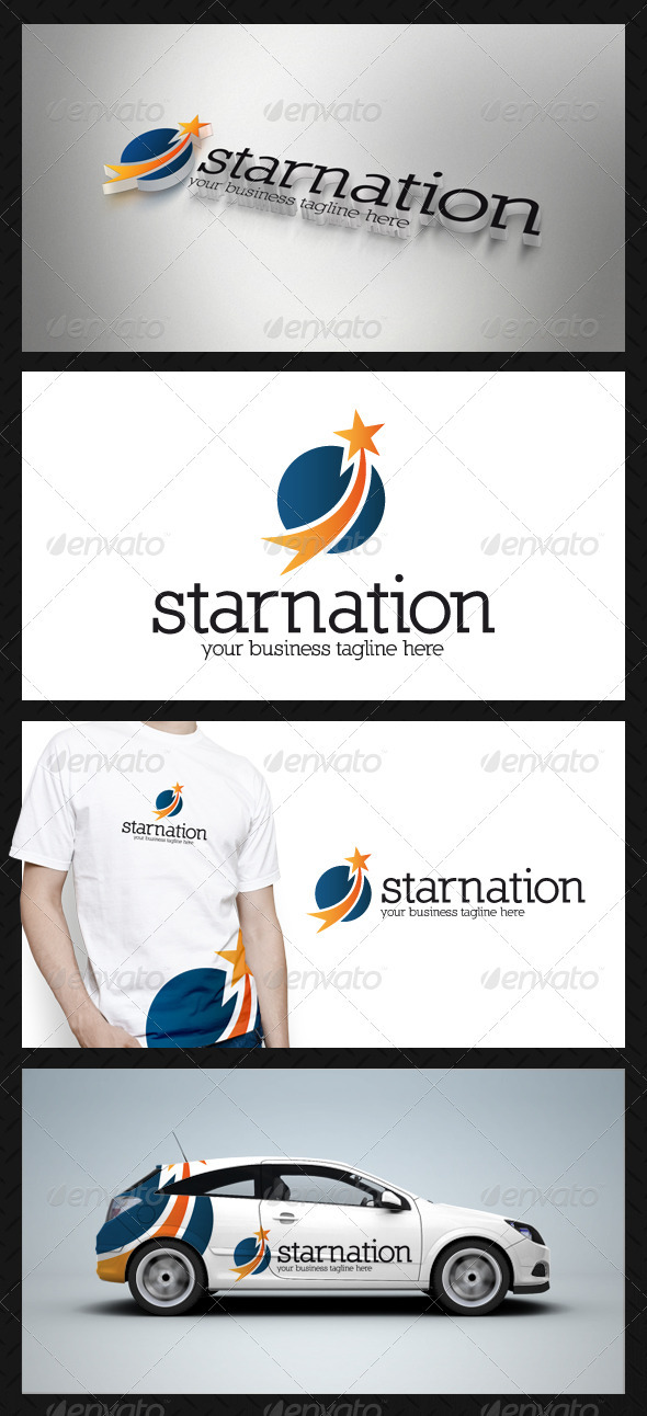 GraphicRiver Star Circle Logo Template 3777295