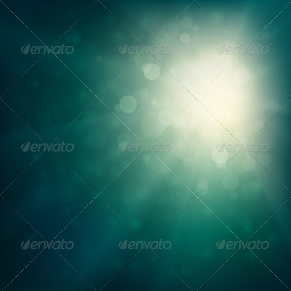 GraphicRiver Green Defocused Lights Background 3777472