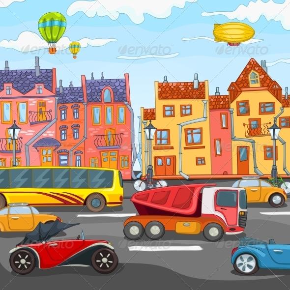 GraphicRiver City Cartoon 3777483