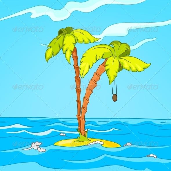 GraphicRiver Beach Cartoon 3777491