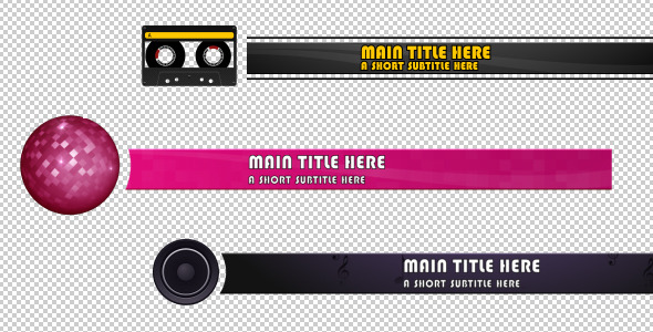 After Effects Project - VideoHive 3 Music Lower Third 406264