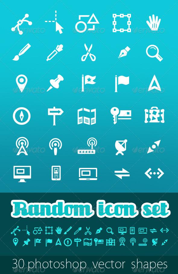 Random Vector Icon Set