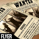 Wanted Music Flyer - GraphicRiver Item for Sale
