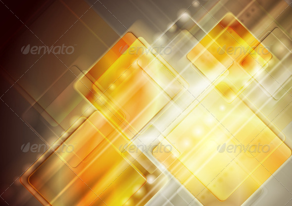 GraphicRiver Vector yellow technology design 3778303