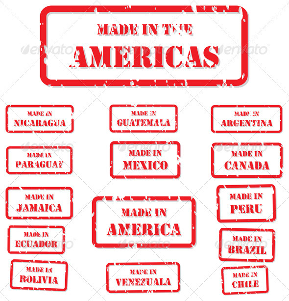 GraphicRiver Made in America Stamps 3778356