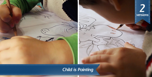 Child is Painting