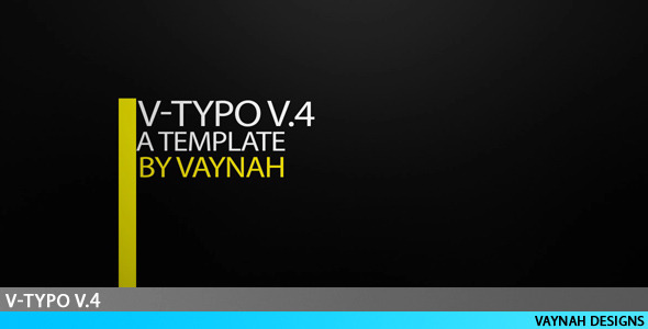 After Effects Project - VideoHive V-Typo V.4 HD Typography 124636