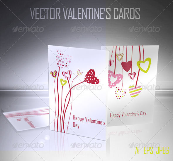 Valentine's Vector Cards - Valentines Seasons/Holidays