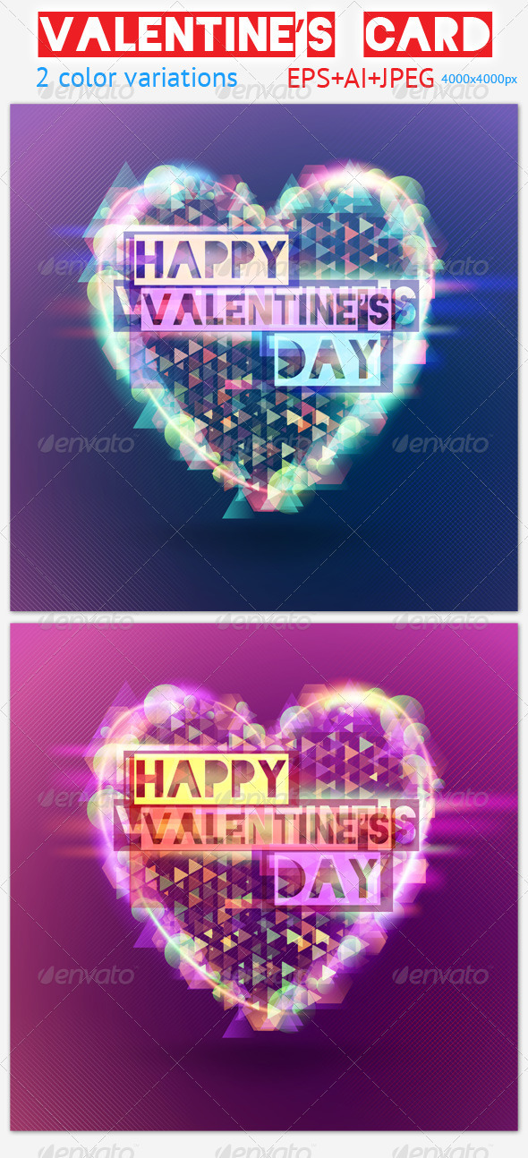 GraphicRiver Valentine s Card 3780655