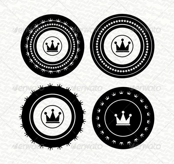 GraphicRiver Vintage retro empty labels badges stamps Vect 3780751