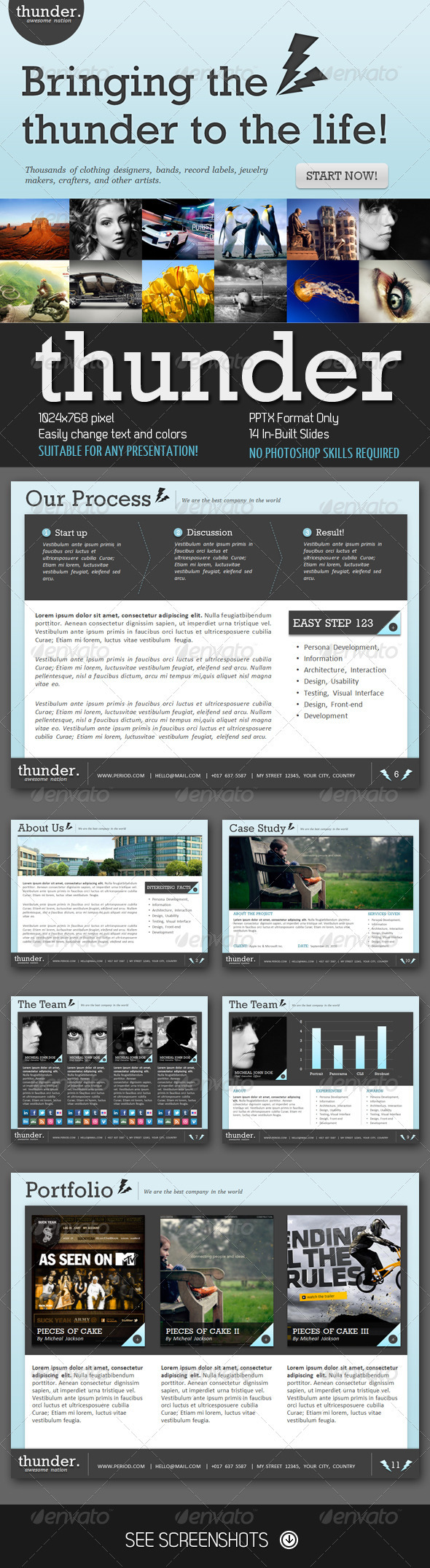 Thunder PowerPoint Presentation - Creative Powerpoint Templates