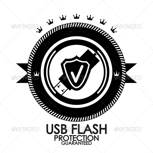 GraphicRiver Black retro vintage label tag badge usb flas 3780957