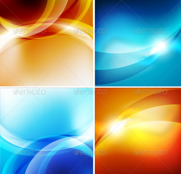 GraphicRiver Glossy Colorful Vector Waves 3780960