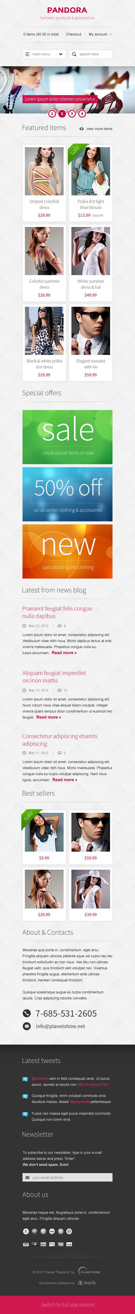 Pandora — Premium Responsive HTML5 & CSS3 Template