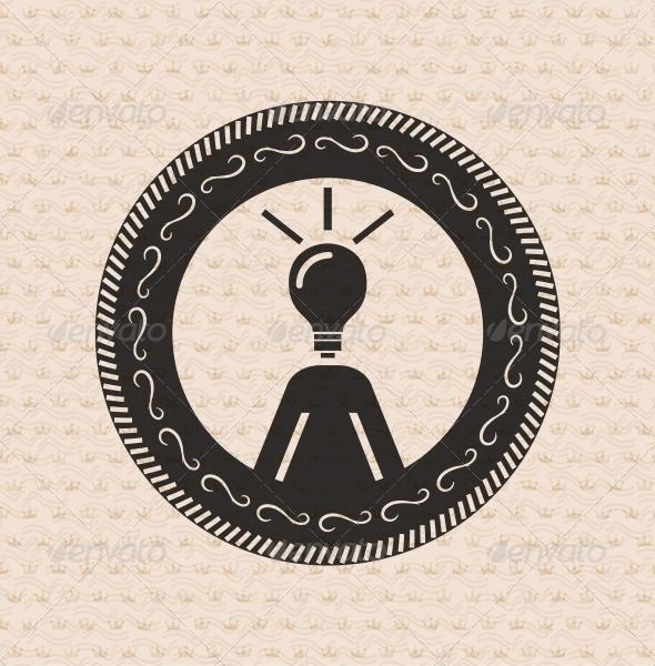 GraphicRiver Vintage retro label tag badge human ideas 3781189