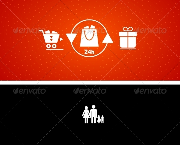 GraphicRiver Vector illustration of gift buying and presenting 3781538