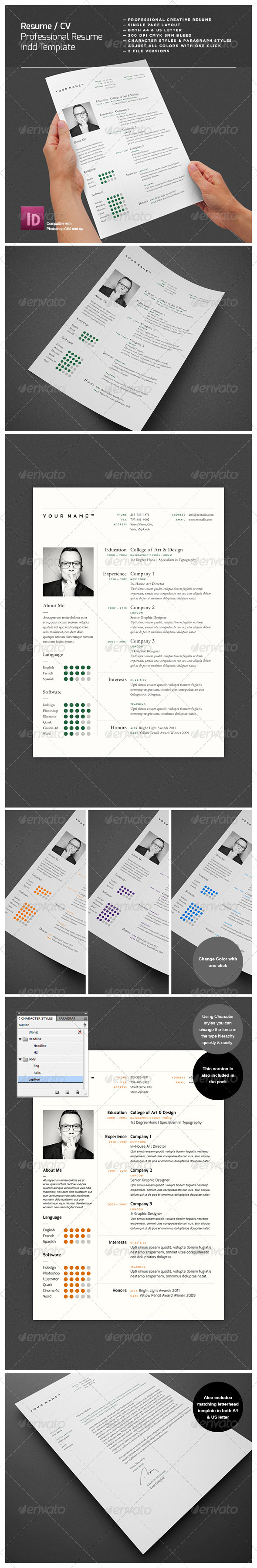 GraphicRiver Professional Resume 3781812