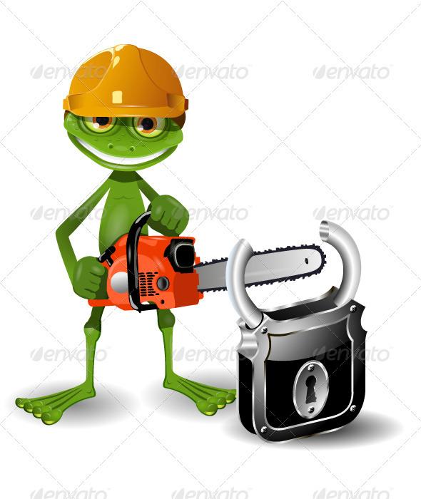 GraphicRiver Frog and Padlock 3781878
