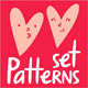 Valentine's Day Patterns - GraphicRiver Item for Sale