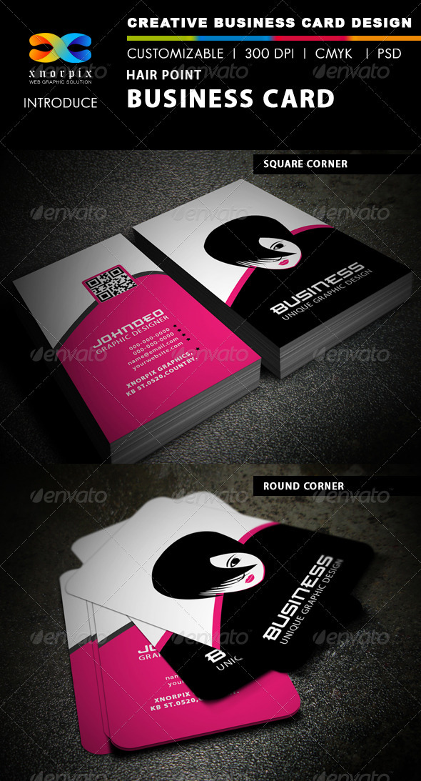 Hair Point Business Card