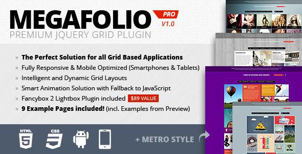 Megafolio Pro Responsive Grid jQuery Plugin