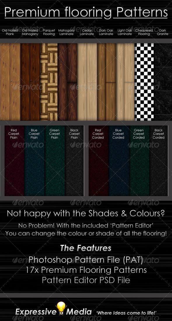 GraphicRiver Premium Flooring Patterns 407467