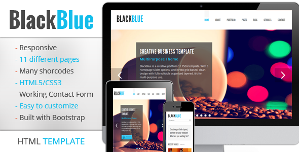 BlackBlue - Responsive multipurpose template