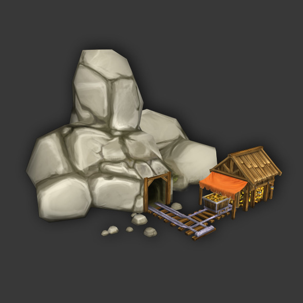 3DOcean Gold Mine Low Poly 3783567