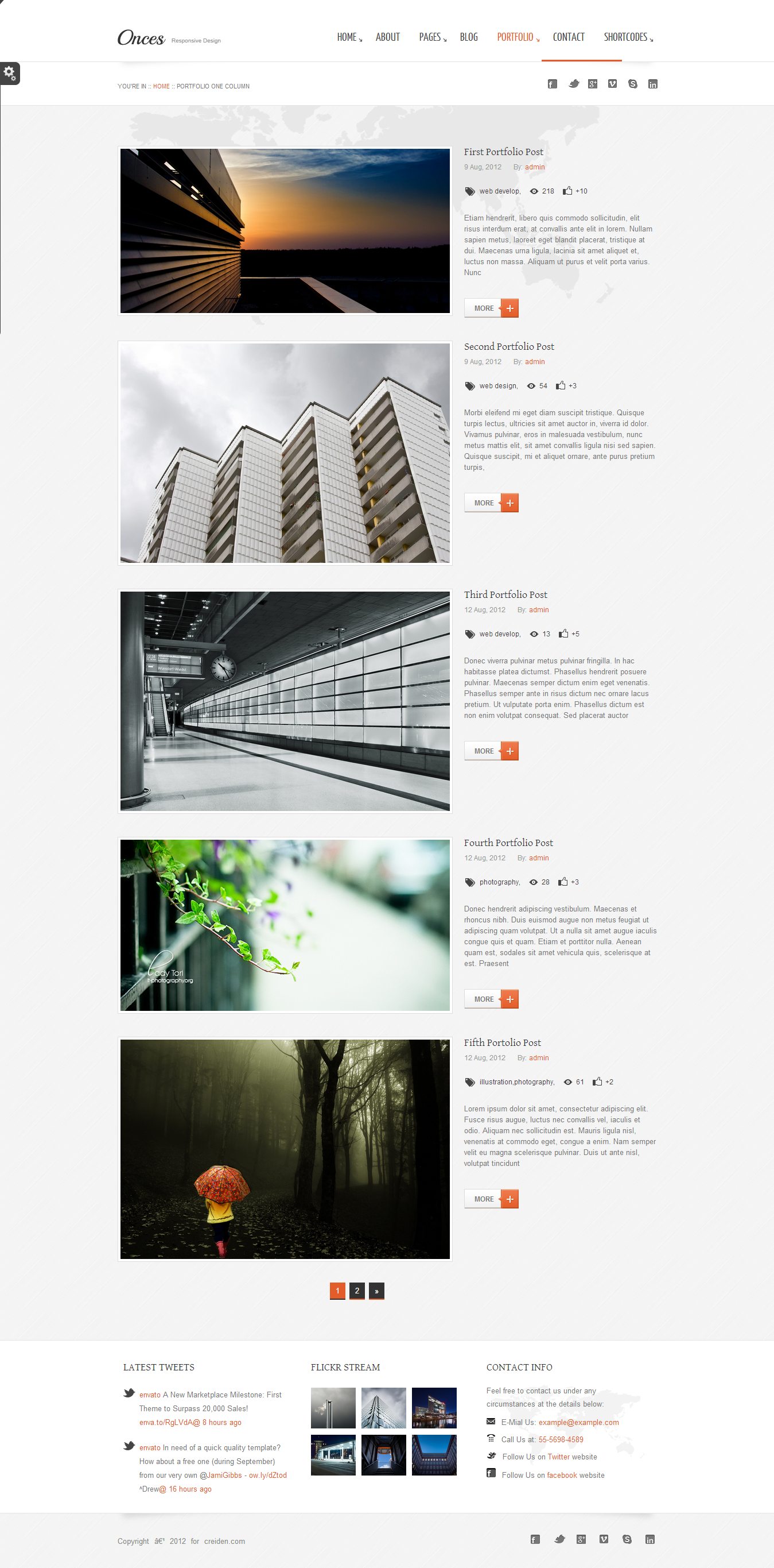 Onces - Corporate WordPress Responsive Theme