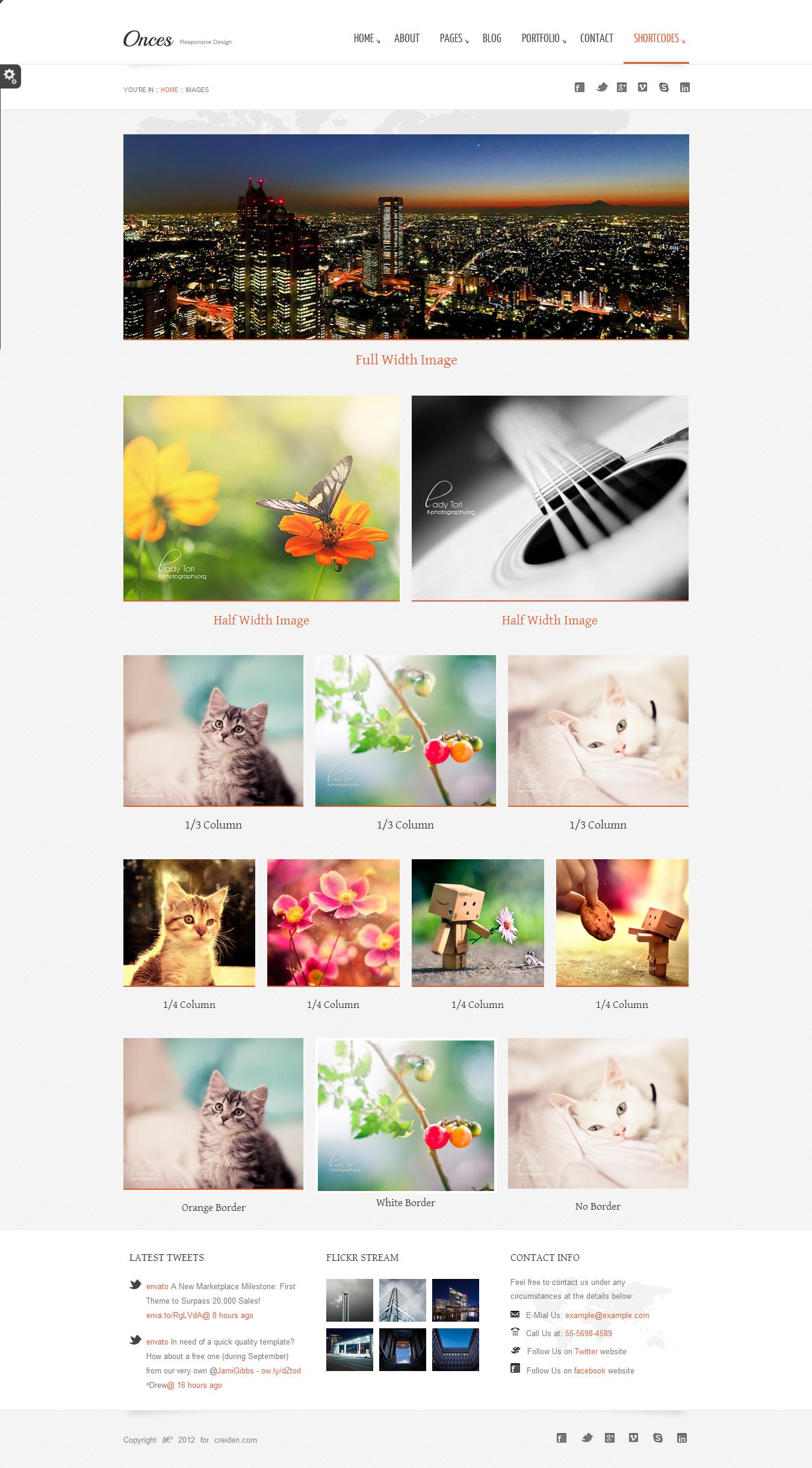 Onces - Corporate WordPress Responsive Theme