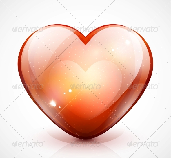 GraphicRiver Glossy Valentine s Heart Vector Illustration 3783764