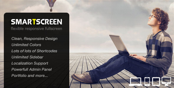 ThemeForest SmartScreen fullscreen responsive Wordpress theme 3784630