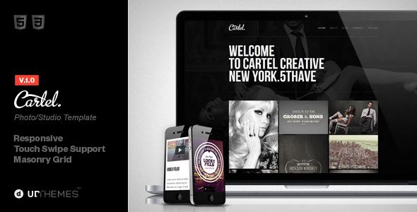 ThemeForest Cartel HTML5 Responsive Studio Template 3784632