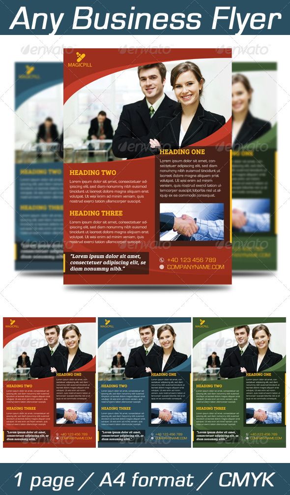 GraphicRiver Any Business Flyer 3727689