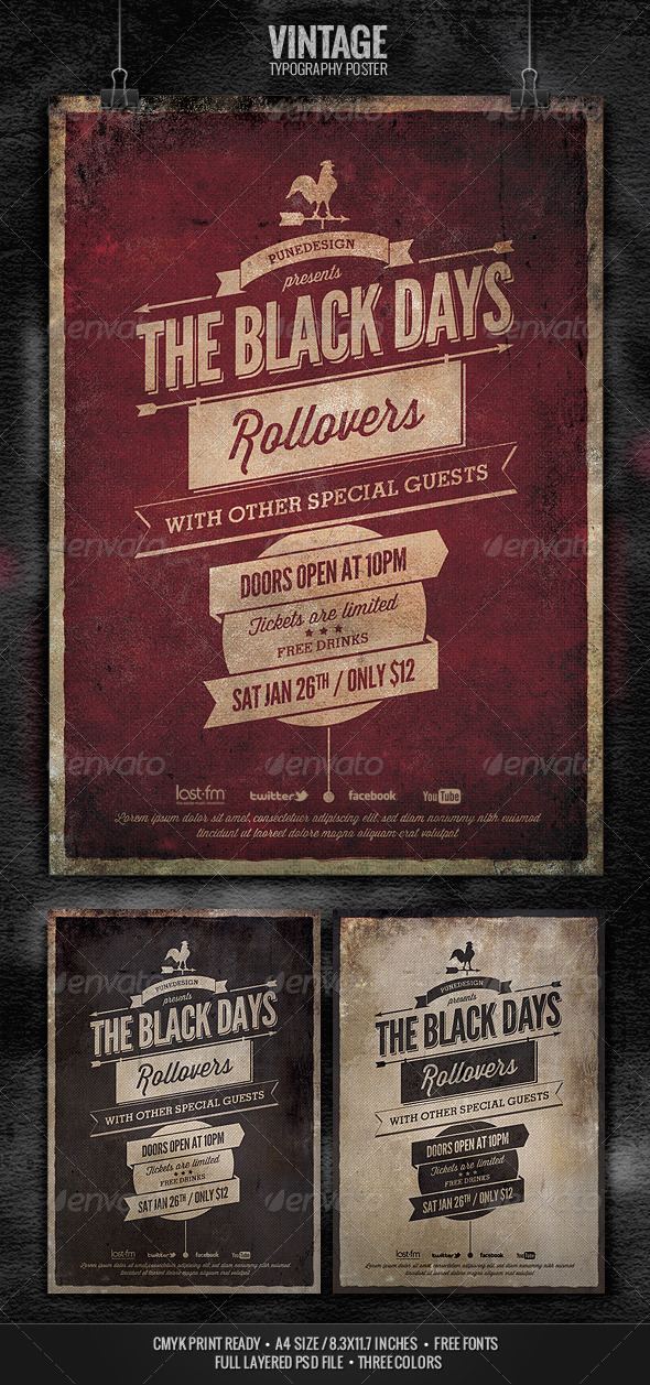 GraphicRiver Vintage Typography Poster 3728872