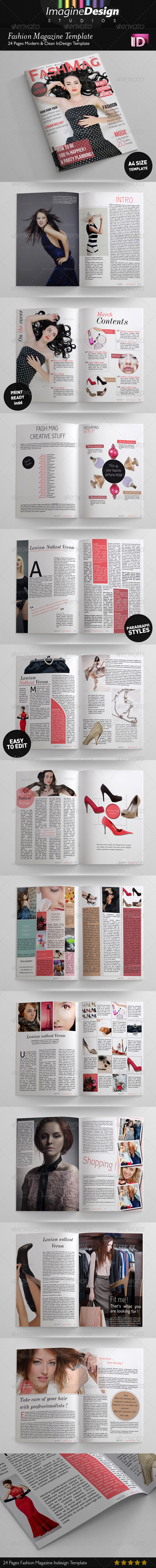 GraphicRiver 24 Pages Fashion Magazine Template 3786722