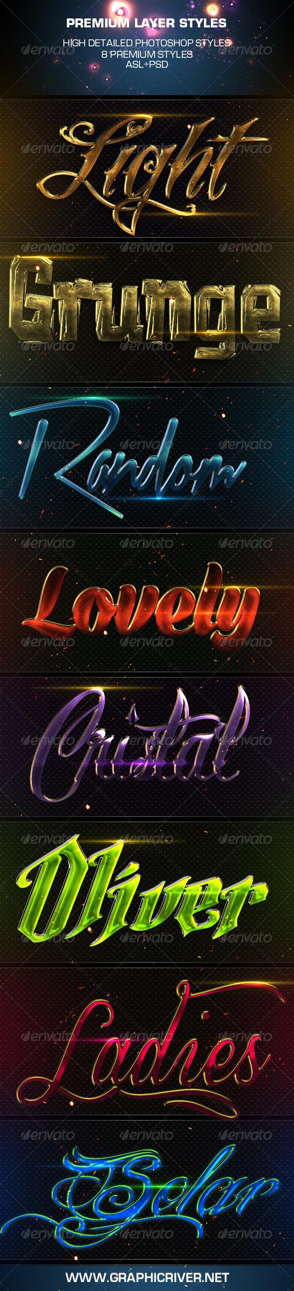 GraphicRiver Premium Layer Styles 3786755