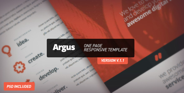 Argus - One Page Responsive Template