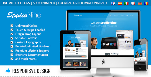 StudioNine - Responsive Business WordPress Theme